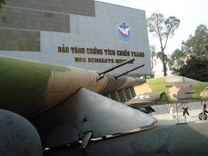 Le musée des vestiges de guerre de Ho Chi Minh-Ville.