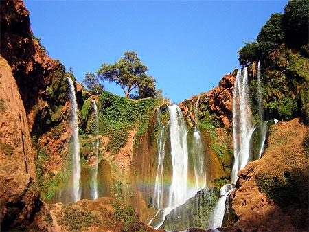 Les Cascades d'Ouzoud au Maroc