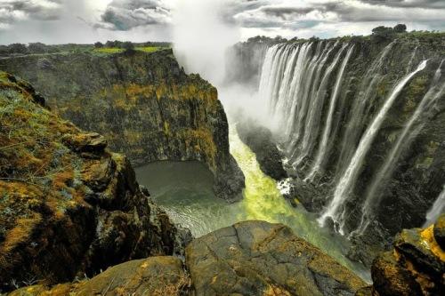 Les chutes Victoria en Afrique