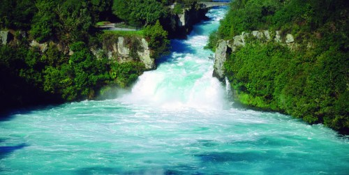Les « Huka Falls » en Nouvelle-Zélande