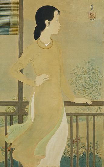 Une femme devant le balcon, Mai Trung Thu