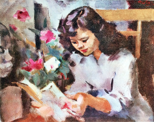 Fille en lecture, Tran Van Can