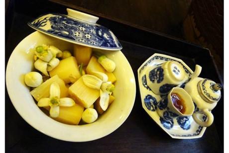 Canne à sucre embaumée de fleurs de pamplemousse
