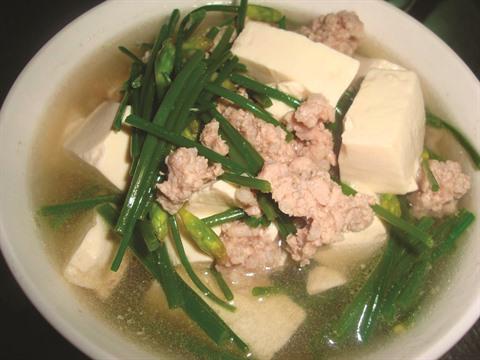soupe au pate de soja et au champignon