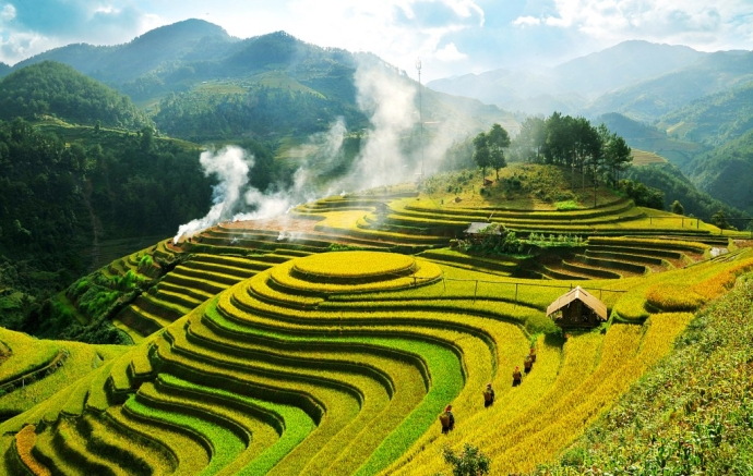 yen bai riziere en terrasse de mu cang chai